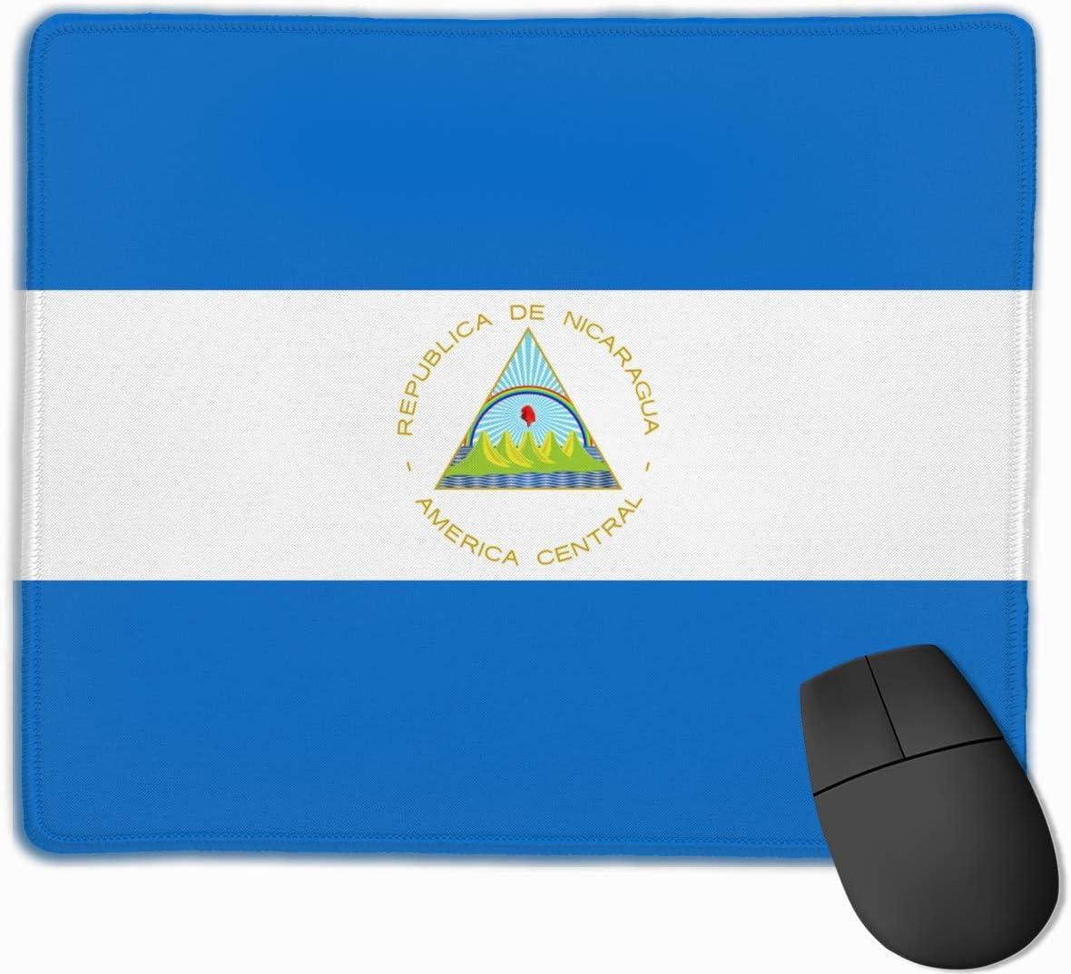 Alfombrilla para ratón con diseño de Bandera de Nicaragua y Bordes ...