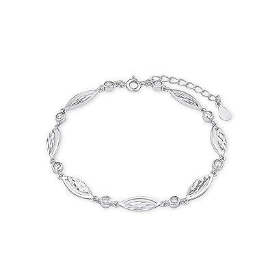 amor Damen-Armband 17,5+3cm 925 Sterling Silber rhodiniert Zirkonia weiß   Amazon.de  Schmuck 64a67a81a8