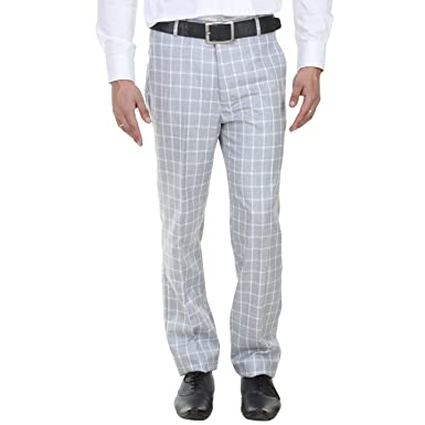 4eb97fa3c5f SHAURYA-F Regular Fit Men s Light Blue Trousers  Amazon.in  Clothing    Accessories