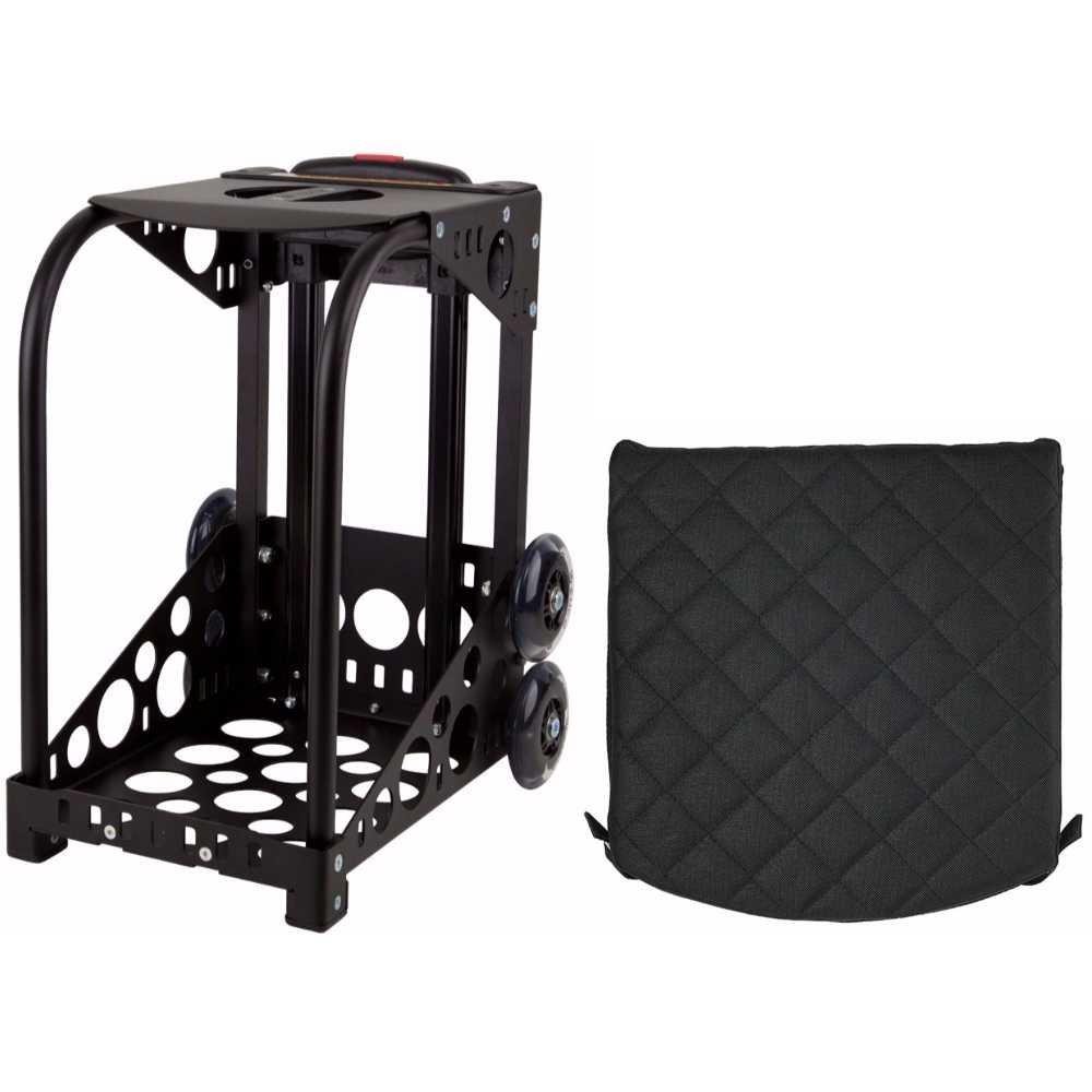 Zucaブラックスポーツフレームwith Flashing Wheelsとパッド入りシートクッションバンドル(挿入Sold Separately )