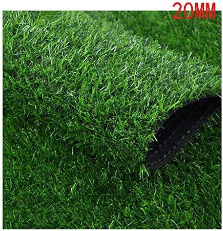 XEWNEG パイルの高さ20mm、屋外の人工芝、緑の暗号化された芝生シミュレーショングラスカーペット-庭のバルコニー幼稚園の装飾、幅2m (Size : 2×10m)