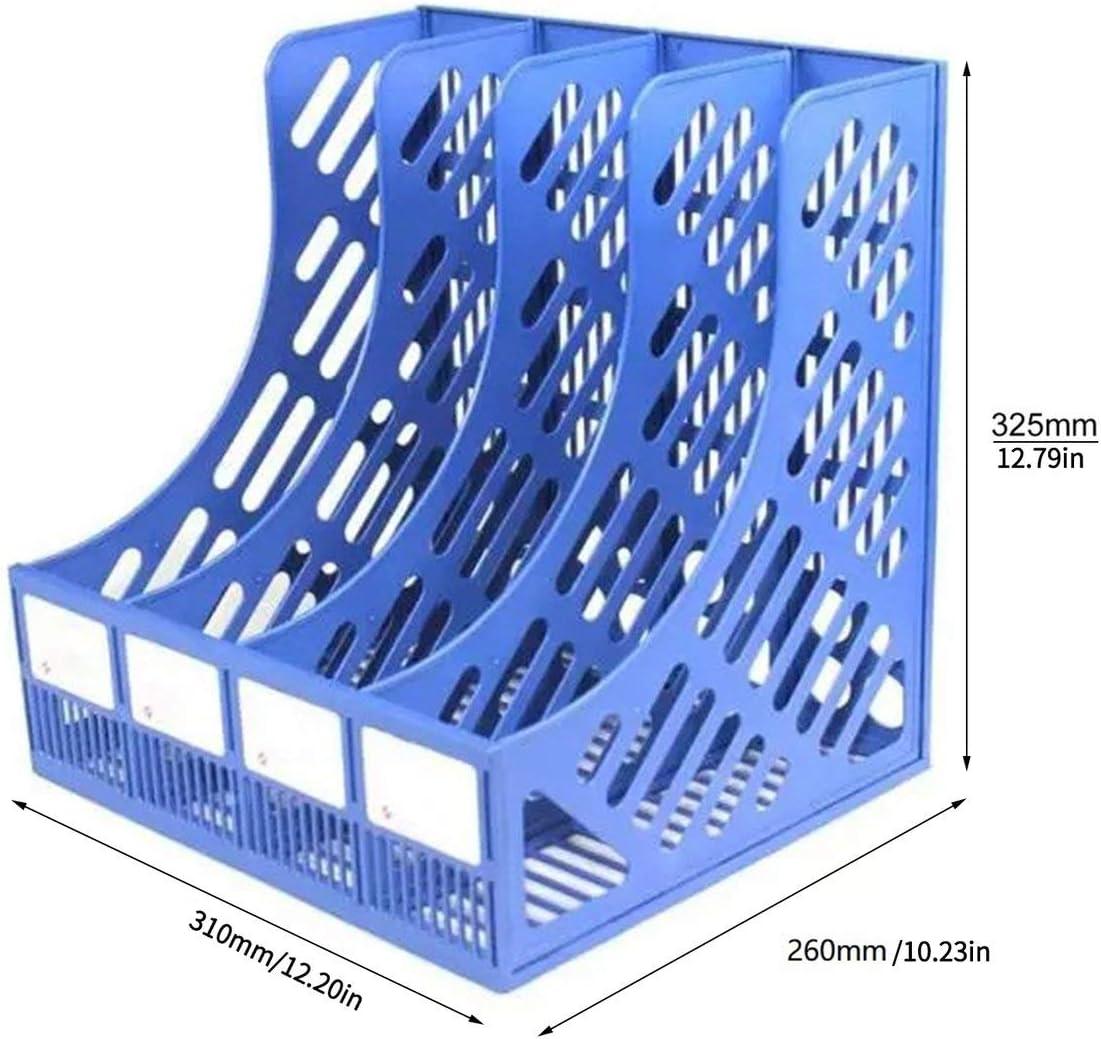 nbvmngjhjlkjlUK Portadocumenti Portadocumenti da scrivania Portadocumenti Portadocumenti Scaffale Verticale Portadocumenti da scrivania Cestino A4 Cancelleria Multistrato Blu