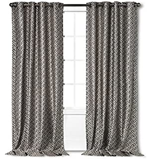 Curtains Ideas batik curtain panels : Amazon.com: Nate Berkus Batik Curtain Panel - Gray (54