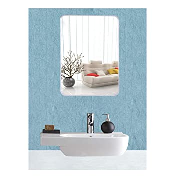 Eyeonbay Kichen Home Appliances Frameless Mirror Glass For Wall Bathroom Home Decor Size 20 X 14 Inches White
