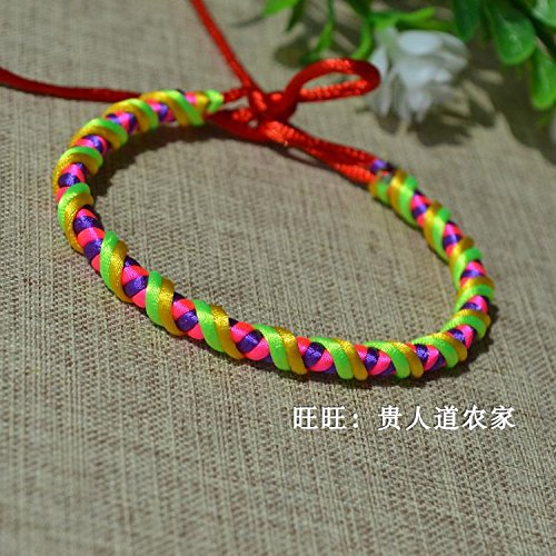 New Korean dragon column line multicolored handmade rope bracelet hand rope Dragon Boat Festival multicolored rope up children's gift ()