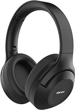 Amazon Com Abingo Digital Active Noise Cancelling Headphones Wireless Good Bass Anc Headphone Bluetooth Over Ear Comfort Protein Ear Pads Low Latency 26h Play Time For Travel Work Cellphones Black Home Audio Theater