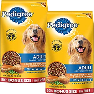 PEDIGREE Complete Nutrition Adult Dry Dog Food Bonus Bags (Chicken, 50 lbs. Pack of 2)