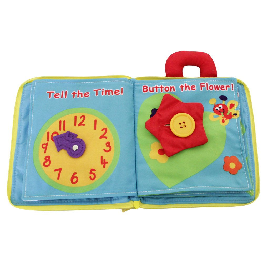 JJOVCE Flower Stereo Book,Soft Books for Babies,Activity Book,Cloth Book by KAKIBLIN (Image #4)