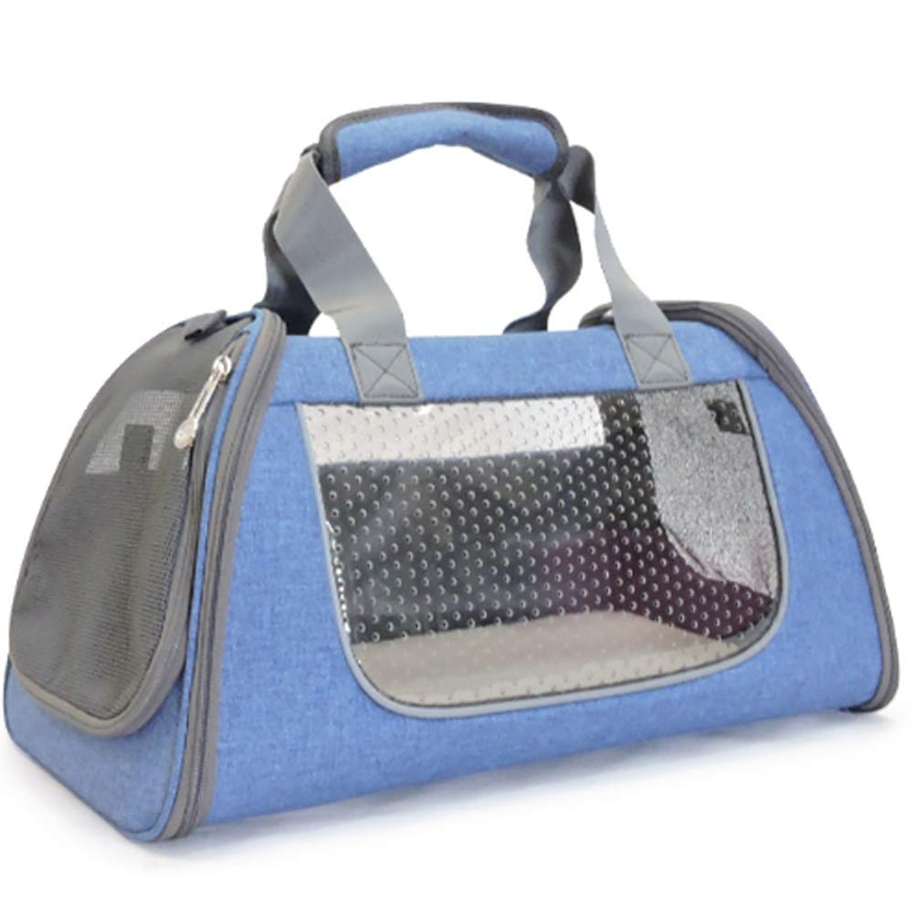 bluee Small bluee Small Pet Purse Carrier, Soft-Sided Pet Travel Carrier Ventilated with Comfortable Design for Small Cats, Dogs, and Pets