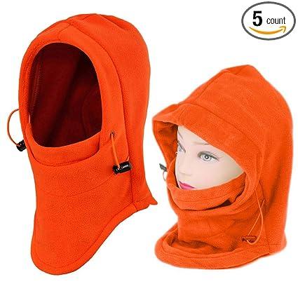 Amazon.com  2 Pack Outdoor Balaclava Full Face Mask Women s Fleece  Balaclava Hooded Face Mask Neck Warmer Ski Hood Snowboard Mask Wind  Protector 1a48b22e1