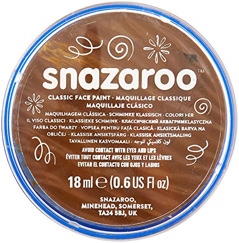 Snazaroo Classic Face Paint, 18ml, Beige Brown