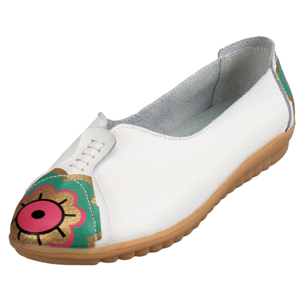 Vogstyle Chaussures Femmes Mocassins Cuir Tendance Motif Chaussures Tendance Femmes Plates Vintage Blanc 719ceae - deadsea.space
