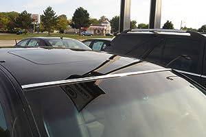 TRUE LINE Automotive DIY 2 Piece Chrome Roof Molding Trim Kit
