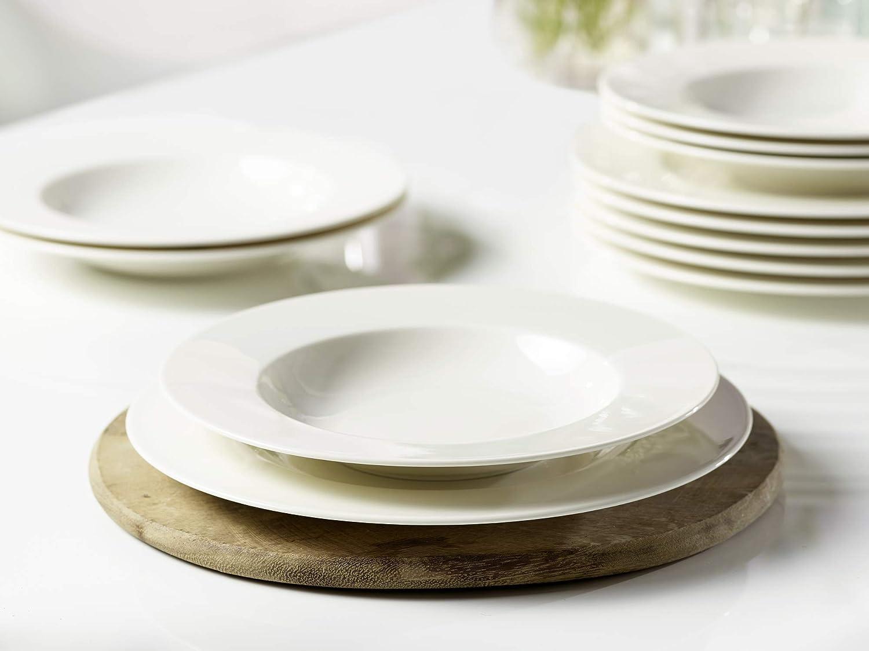 Set da 6 Pezzi Vivo by Villeroy /& Boch Group Basic White Ciotole Porcellana Premium Bianco