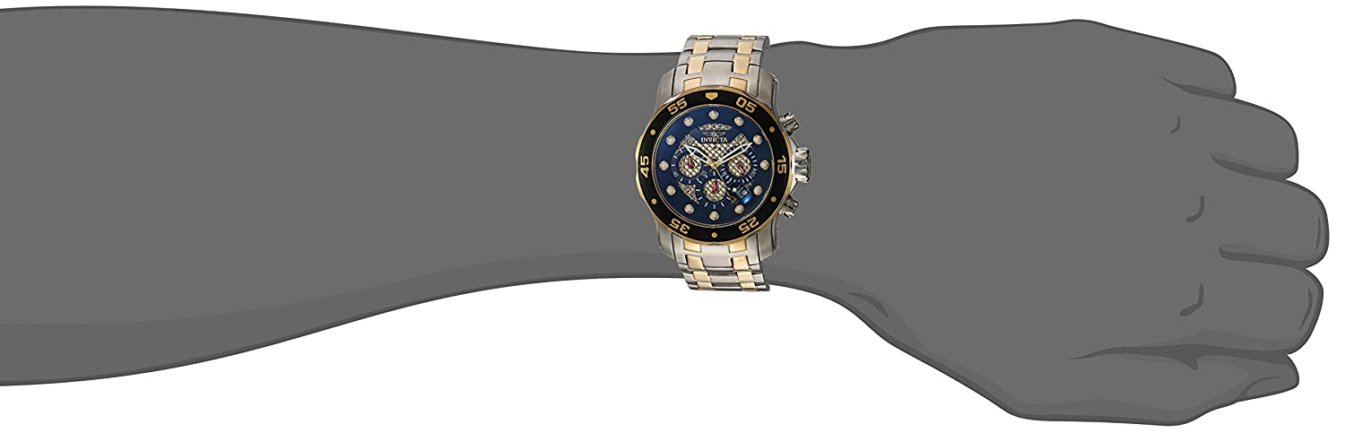 Invicta Men s Pro Diver Quartz Diving Watch with Stainless-Steel Strap, Two Tone, 18 Model 25333