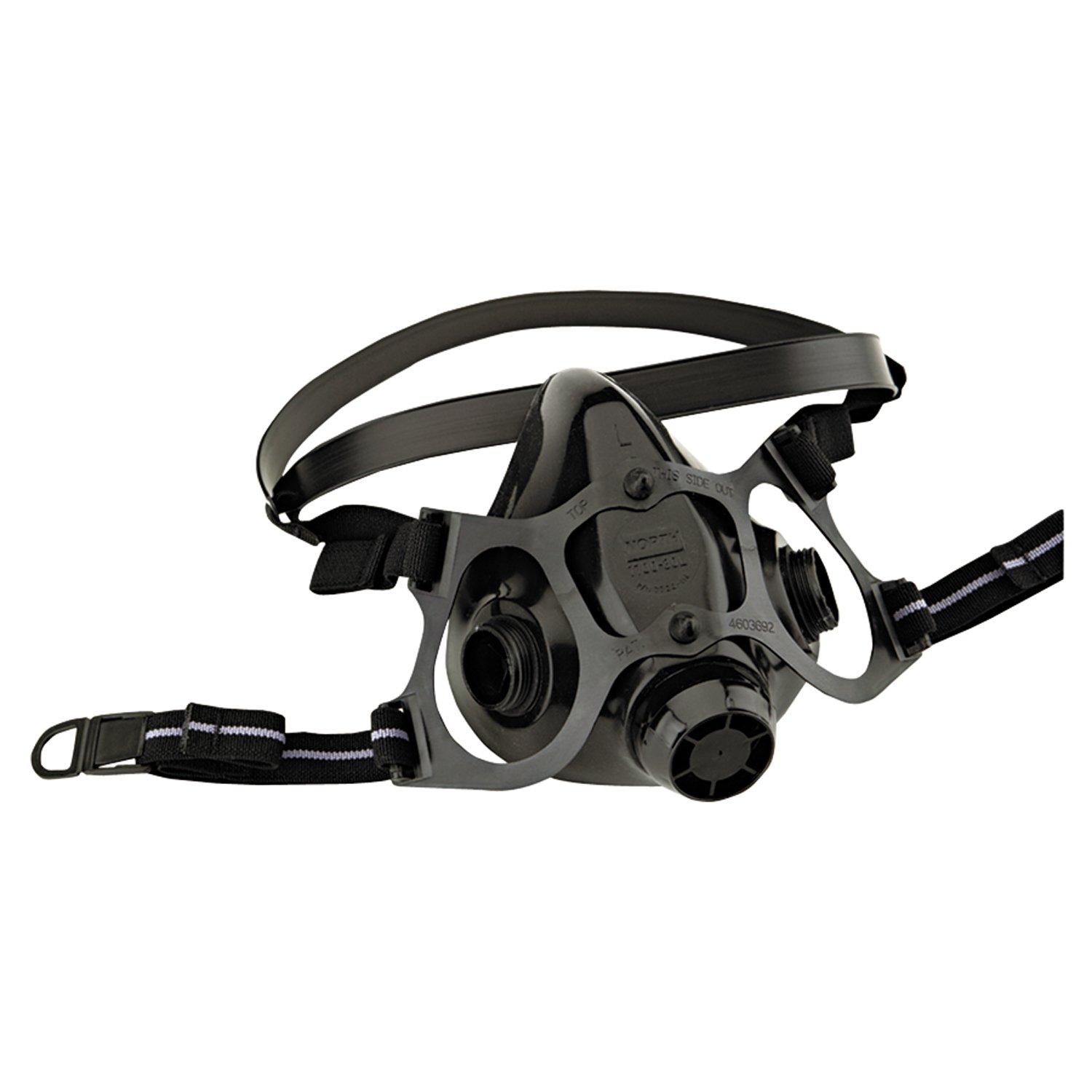 North Medium Black Silicone 7700 Series Half Mask Facepiece