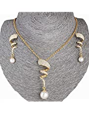 Crystal Studded Spiral Accessory Set for Women