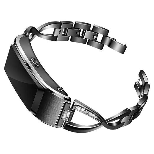 Holatee Correas de Reloj Correa de PulseraAcero Inoxidable para Reloj Inteligente Huawei B5 Correa de Muñeca Repuesto para Mujer: Amazon.es: Relojes