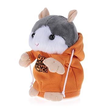 Goolsky Talking Hamster Repite lo que dices Cute Plush Electronic Mimicry Hamster Juguete de peluche interactivo