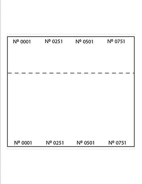 Print Ready Blank Raffle Ticket Sheets 8 1 2 X 11 4