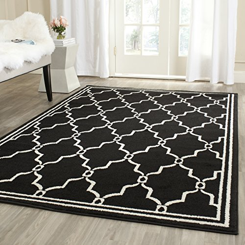 Safavieh Amherst Collection AMT414G Geometric Area Rug, 4 x 6 , Anthracite Ivory