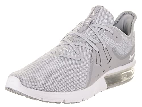 89c0aa8896 NIKE Men's Air Max Sequent 3 Fitness Shoes, Multicolour (Wolf Grey/White/