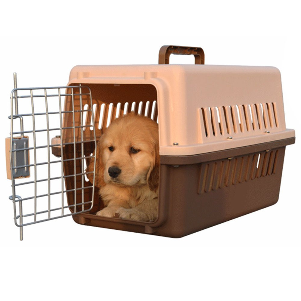 Lonni Large Dog Carrier Airline Approved Detachable Plastic Kennel Pet Carry Box for Dogs or Cats Travel