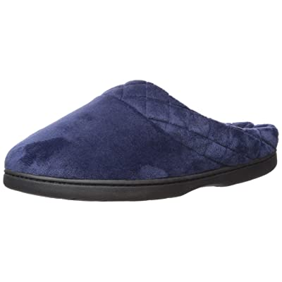 Amazon.com | Dearfoams Women's Darcy Microfiber Velour Clog with Quilted Cuff Slipper | Slippers
