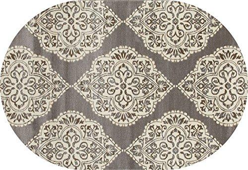 Art Carpet Arabella Collection Medallion Woven Oval Area Rug, Oval 6'7
