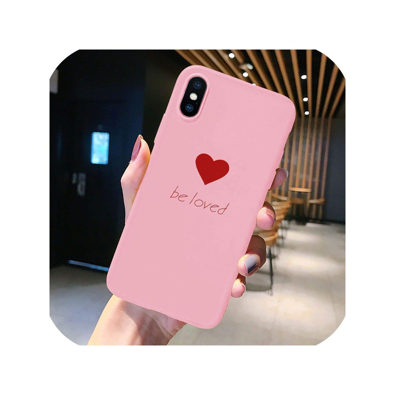 Amazon.com: Pink Matte Phone Case for iPhone 7 6 6S Plus 9 ...