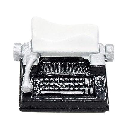Odoria 1/12 Miniatura Antiguo Máquina de Escribir Negro Decorativo para Casa de Muñecas