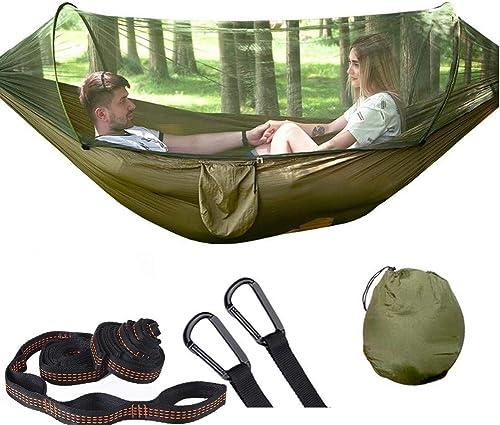 TNH Outdoors Rakaia Designs Double Single Camping Hammocks – Lightweight Nylon Portable Hammock, Best Parachute Hammock for Backpacking, Camping, Hiking, Beach with Free Heavy Duty Carabiner Clips