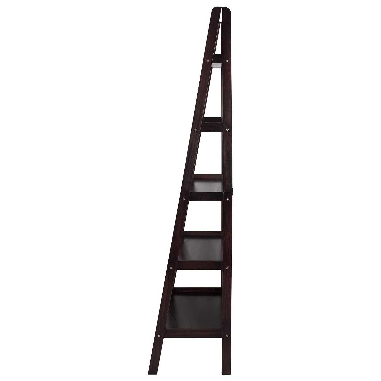 Design Ladder Bookcase amazon com casual home 176 53 5 shelf ladder bookcase espresso kitchen dining