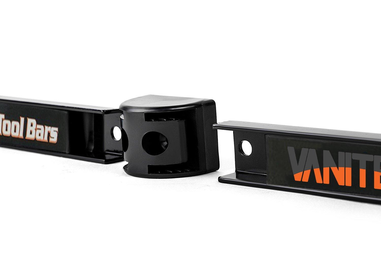 Vanitek 4 Heavy-Duty 12'' Magnetic Tool Holder Racks | Super Strong Metal Magnet Storage Tool Organizer Bars Set | Great for Garage/Workshops (Mounting Screws Included) by Vanitek (Image #3)