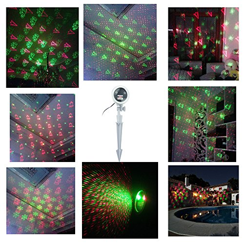 Xmas Light Projector Coke Bottle Red Green Belt Design Silver + Remote Control Projection Spotlight Outdoor Lamp for Party Decorator Kids Cartoon Easter Thanksgiving Birthday Holiday