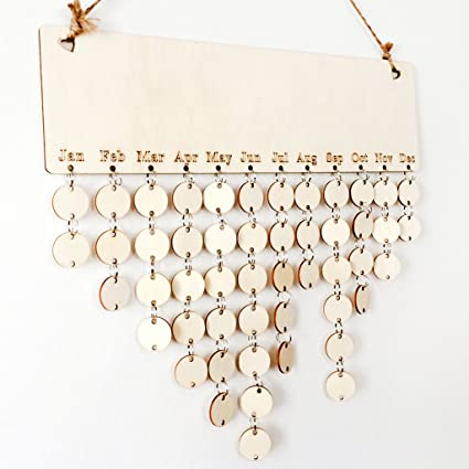 Amazon Com Susada Natural Wooden Hanging Calendar Blank Diy Home