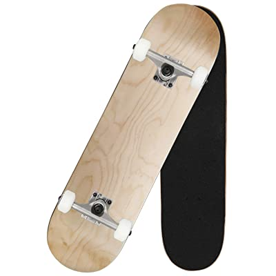 """Pro Skateboard 31"""" X 8"""" Standard Skateboards Cruiser Complete Canadian Maple 7 Layers Double Kick Concave Skate Board"""