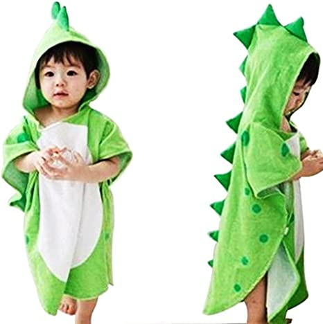 Toalla de baño con capucha para bebés y niños, 100% algodón prémium, para playa o piscina, poncho unisex, de JYSP Dinosaur Talla:60 * 120 cm/23.6 * 47.2 inch (Dinosaur, 60 * 120 cm/23.6 * 47.2 inch): Amazon.es: Bebé