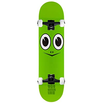 "Toy Machine Skateboard Complete Turtle FACE 7.75"" Black Assembled: Toys & Games"