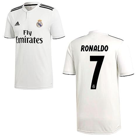 adidas Maglia Calcio Real Madrid CF Home 2018 2019 Maglia Ronaldo 7  Bambini 0dc838ba6974