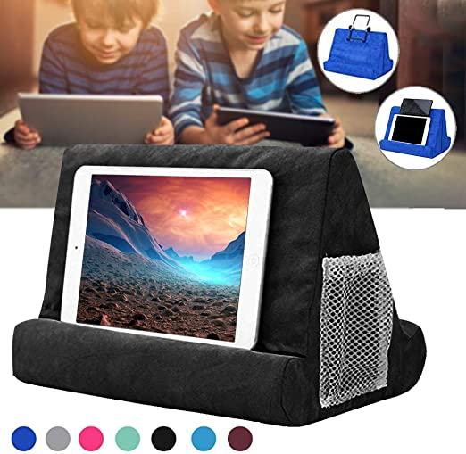 Plush Tablet Holder Wedge Pillow Angled Cushion Lap Stand For iPad Book Reader