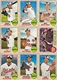 Baltimore Orioles 2017 Topps Heritage Baseball Series Basic 13 Card Team Set with Manny Machado Plus