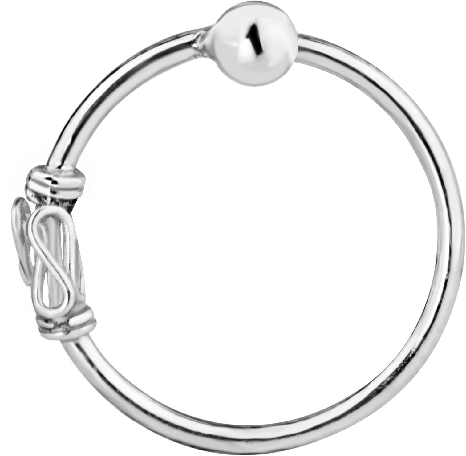 20g Sterling Silver Bali Style Nose Hoop