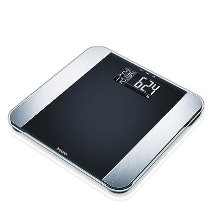 Beurer BF Limited Edition 2013 - Báscula de baño (LCD, Negro, Acero inoxidable, 32 cm, 32 cm, 2.5 cm, AAA)