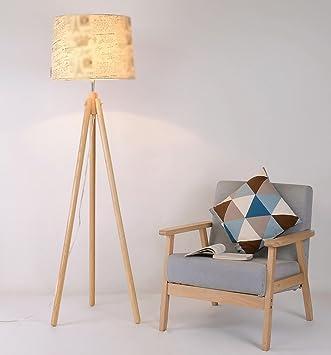 Stehlampen Nordic Holz Wohnzimmer Studie Schlafzimmer Lampe Stoff  Lampenschirm Einfache Und Moderne Stativlampen Standleuchten