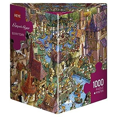 Heye Puzzles - Triangular , 1000 Pc - Bunnytown, Ruyer: Toys & Games