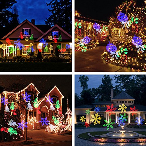 Halloween Projector Lights Auledio Outdoor IP65 Waterproof Snowflake Landsca