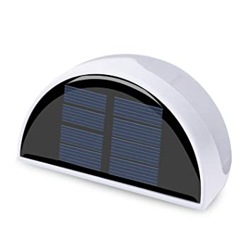 waterproof outdoor solar light qpau 6 led solar powered garden stair fence step wall lighting