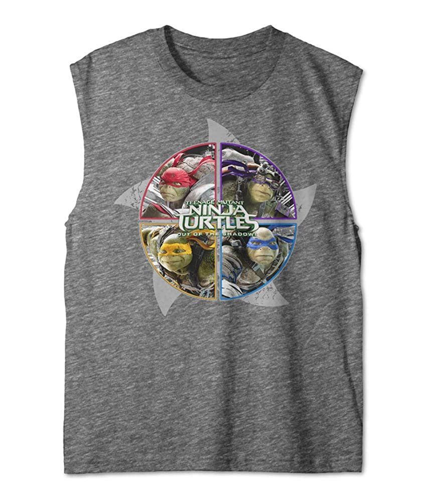 18 Nickelodeon Boys Ninja Turtles Muscle Tank Top XL Grey