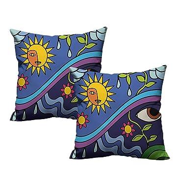 Amazon.com: warmfamily Abstract - Funda de almohada con ...